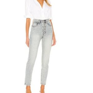 WeWoreWhat The Danielle High Rise Vintage Blue Straight Jeans 31